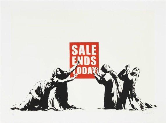 Фото: Sale ends today by Banksy (https://www.myartbroker.com/artist/banksy/sale-ends/)