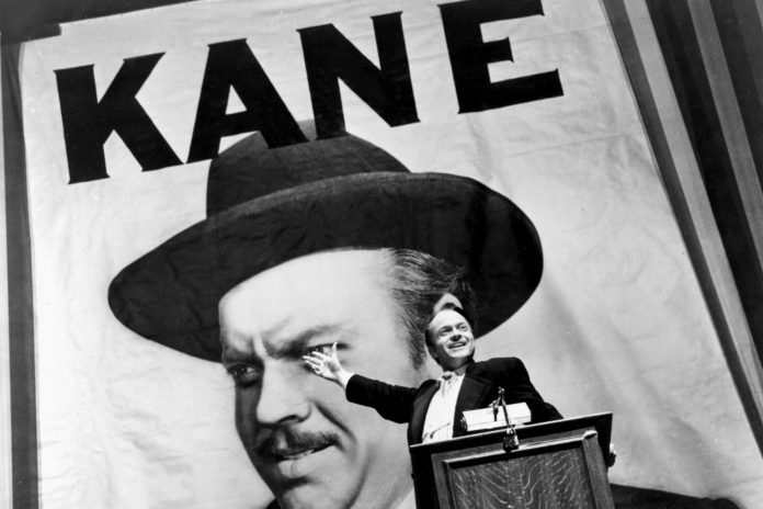 CITIZEN KANE, Orson Welles, 1941, running for governor (https://ideahuntr.com/what-makes-citizen-kane-a-great-film-4-video-essays-revisit-orson-welles-masterpiece-on-the-80th-anniversary-of-its-premiere/)